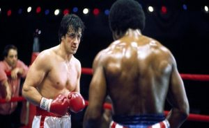 SYLVESTER STALLONE & CARL WEATHERS ROCKY (1976)